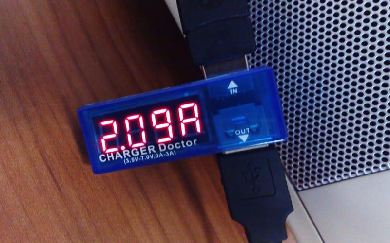 mesure du courant sur une prise usb