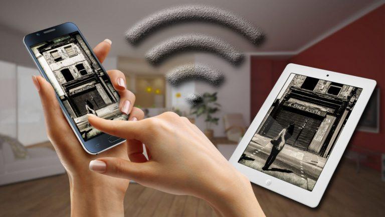 android et iPad communiquent sur internet en haut débit